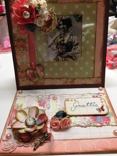 Shabby easel card, made by Sussi
