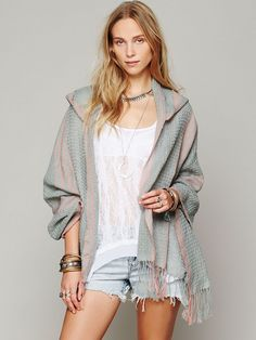 Free People Hooded Poncho http://www.freepeople.com/whats-new/hooded-poncho/