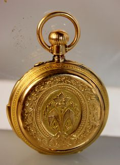 Lot 28:Antique Ladies 18kt Gold Pocket Watch
