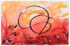 """""""Rojo"""" 36 x 54 cms Acuarela y Carboncillo 2011"""