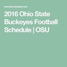 2016 Ohio State Buckeyes Football Schedule | OSU