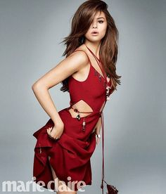 Selena Gomez looks red-hot in a Christopher Kane dress for Marie Claire Magazine June 2016 issue Style Selena Gomez, Fotos Selena Gomez, Selena Gomez Pictures, Christopher Kane, Selena Selena, Marie Claire Magazine, Divas, Images Instagram, Marie Gomez