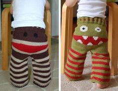 makinology:  monster swants … lol free pattern in different languages —-> http://www.ravelry.com/…/monster-longies-monsterbukse