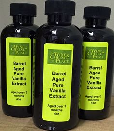 The Wine and Cheese Place: BARREL AGED Madagascar Bourbon Vanilla Extract