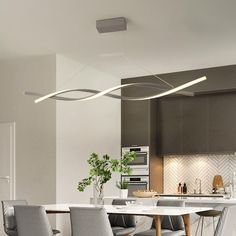 Interior Deluxe Whorl LED Pendant Light | Interior-Deluxe.com Pendant Track Lighting, Led Pendant Lights, Pendant Light Fixtures, Modern Lighting, Lighting Design, Lighting Ideas, Club Lighting, Linear Lighting, Contemporary Pendant Lights