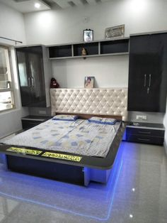 Karan Desgin Wood Work Bed Bedroom Designs In 2019 Bedroom Cupboard Designs, Wardrobe Design Bedroom, Bedroom Bed Design, Modern Bedroom Design, Bedroom Designs, Simple Bed Designs, Bed Designs With Storage, Double Bed Designs, Modern Bedroom Furniture Sets