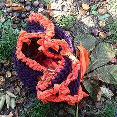 Borsa in jersey e seta #bag #jersey #silk #fall #autumn #etsy