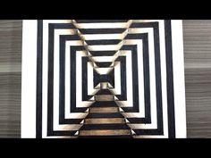Cómo dibujar una ilusión óptica 3D / How to draw optical illusion YouTube