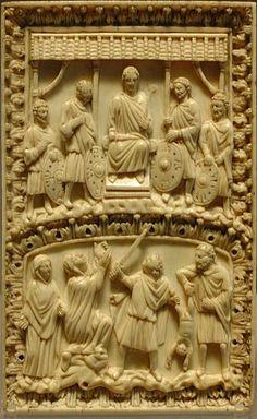 Codex binding,ivory,France 9th century  Louvre Museum  More about art: http://sammler.com/art/ Mehr über Kunst: http://sammler.com/kunst/