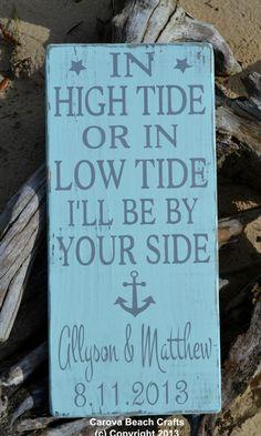 Wedding Sign  Nautical  Beach Wedding  by CarovaBeachCrafts, $50.00