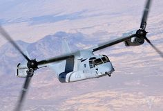 The Bell Boeing V-22 Osprey Tiltrotor (VTOL) 316 mph, 25,000 feet, Max Take Off Weight 60,500 lbs., 24 Troops Seated. OMG!