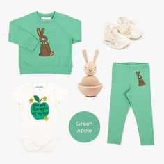 Green Apple Baby Online, Kind Mode, Bermuda Shorts, Kids Fashion, Apple, Green, Shopping, Clothes, Apple Fruit