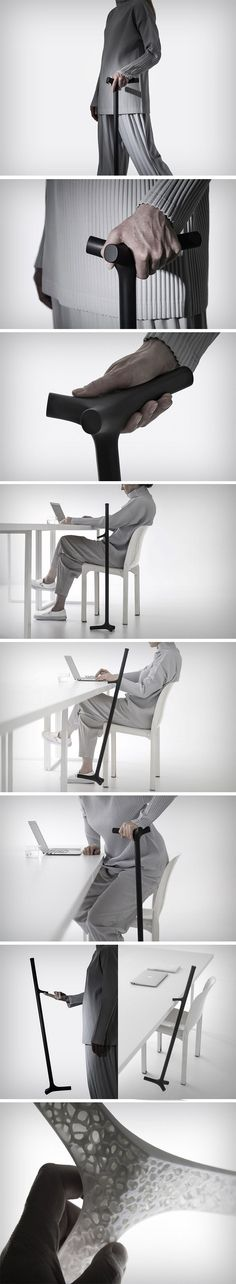 Studio Shiro challenges convention with the ENEA walking stick. Made out of 3D printing, the stick has a contemporary air that makes a style statement, rather than looking like a disability device from a bygone era. The design redefines functionality while celebrating minimalism. It features a 3-axis handle that one can grip firmly. To keep the stick as light as possible, the ENEA is made using a stress-bearing, porous inner structure, much like the inside of our bones.