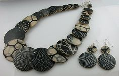 Symmetry Collection by Louise Fischer Cozzi: Polymer Jewelry available at www.artfulhome.com