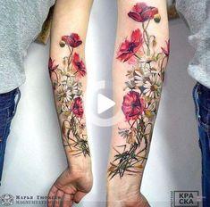 Marya Tyurpeko flower tattoo # Floral tattoo What's Art ? Pretty Tattoos, Love Tattoos, Beautiful Tattoos, Body Art Tattoos, Tatoos, Amazing Tattoos, Beautiful Body, Flower Tattoo Designs, Tattoo Designs For Women