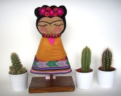 Frida Kahlo Art Doll by Guadalupecreations on Etsy, €65.00