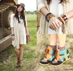 Sm Accessories Scarf, S Wedge Sneakers | Free Spirit (by Kryz Uy) | LOOKBOOK.nu