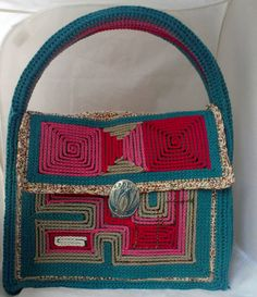 crochet bag Kelly style  purse Haute Couture OOAK  by mopepa