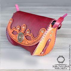 """Купить Сумка """"Бордовая"""", натуральная кожа - бордовый, орнамент, бордовая сумка, бордовая сумочка"""