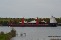 SHIP ON THE ST LAWRENCE RIVER-- THE CLAUDE A DESGAGNES