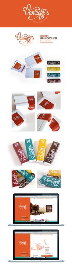 Vanlieff's, Artisan Chocolatier by Laureen Delhaye, via Behance www.behance.net/laureendelhaye