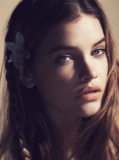 Floral Flush: Barbara Palvin Wows in Spring Looks for Marie Claire France - Hair Styles - Braids -Long Hair - Hair Accessories