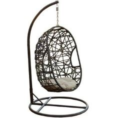 Egg-shaped outdoor swing chair