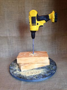Gravity defying Drill Cake on Cake Central