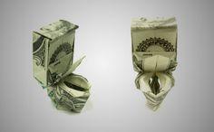 20 Cool Examples of Dollar Bill Origami | Bored Panda