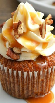 Caramel Pecan Carrot Cupcakes by Garnish & Glaze