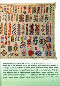 Sampler from the Slovak Ethnographic Museum