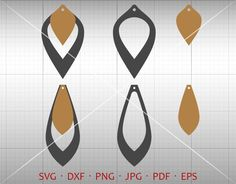 Stacked Earring SVG, Hollow Out Tear Drop SVG, Pendant svg, Teardrop Vector DXF, Leather Earring Jewelry Laser Cut Template Commercial Use by GalaxyDigital on Etsy https://www.etsy.com/listing/580864348/stacked-earring-svg-hollow-out-tear-drop