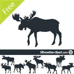 mooses-silhouette-vector