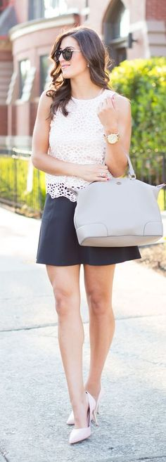 Blush Scalloped Top Summer Style
