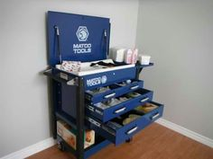 Tool box changing table
