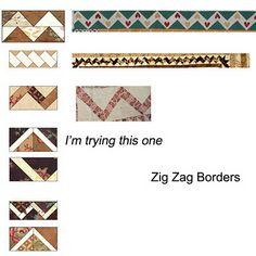 Quilt 1812: War & Piecing: Zig-Zag Borders