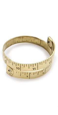 Not at all a sewing project- but perfect for the seamstress! Monserat De Lucca Measuring Tape Bracelet