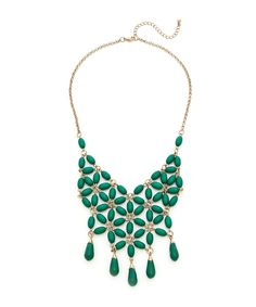 Cool Beans Necklace - Antique Gold and Green