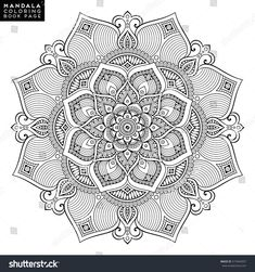 Find Flower Mandala Vintage Decorative Elements Oriental stock images in HD and millions of other royalty-free stock photos, illustrations and vectors in the Shutterstock collection. Mandala Art, Mandala Drawing, Mandala Design, Flower Mandala, Mandala Book, Mandala Coloring Pages, Coloring Book Pages, Coloring Sheets, Mandala Oriental
