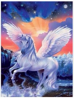 Pegasus is one of the best known mythological creatures in Greek mythology Unicorn And Fairies, Unicorn Fantasy, Unicorn Horse, Unicorn Art, Magical Unicorn, Fantasy Art, Magical Creatures, Fantasy Creatures, Ghost Rider
