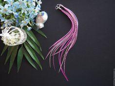 Розовые сны - необычные длинные серьги с перьями в стиле бохо - серьги с перьями