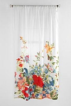 Romantic Floral Scarf Curtain