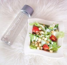 ♡water and salad