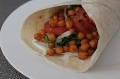 Spicy roasted chickpea wraps - Amuse Your Bouche