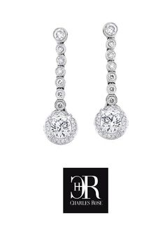 """""""Gaia"""" - Diamond Drops. Delightful diamond drop earrings - featuring a perfectly matched pair of premium quality round brilliant cut diamonds dangling from mill grain, rub set, small brilliant cuts. For pierced ears please. Exclusive, and fully hand made by Charles Rose, in 18 carat white or yellow gold, or platinum. #earrings #love #diamonds Platinum Earrings, Diamond Drop Earrings, Wedding Engagement, Wedding Rings, Gaia, Ear Piercings, Dangles, Diamonds, Jewellery"""