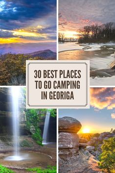 30 of the Best Places To Go Camping in Georgia. Georgia offers amazing mountains, rivers, lakes and forests that provide some amazing camping scenery. Here are our picks for the absolute best places to go camping in Georgia. Best Places To Camp, Camping Places, Camping Spots, Camping Life, Tent Camping, Places To Travel, Places To Go, Camping Ideas, Camping Checklist