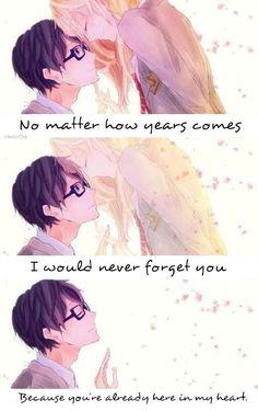 Non importa quanti anni passeranno,non ti dimenticherò,perché sei già dentro la mia testa