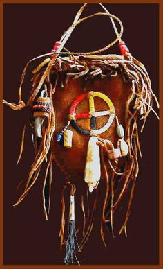 plains indian medicine pouch- beautiful with the medicine wheel on it