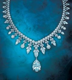 Tiffany Majestic necklace, round and oval shaped diamonds, probably set in platinum