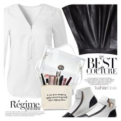 """""""Black and White and Rockchic"""" by vanjazivadinovic ❤ liked on Polyvore featuring Anja, polyvoreeditorial and twinkledeals"""
